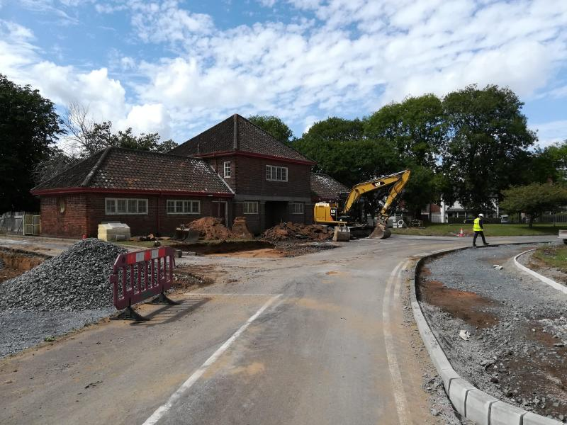 New path for pupils being constructed.
