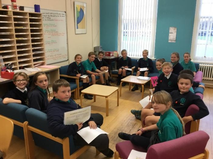 School Council Meeting in Staff Room