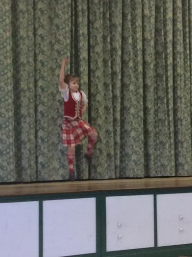 A spot of highland dancing!